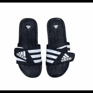 2/$25 Adidas Adissage Black & White Slide Sandal